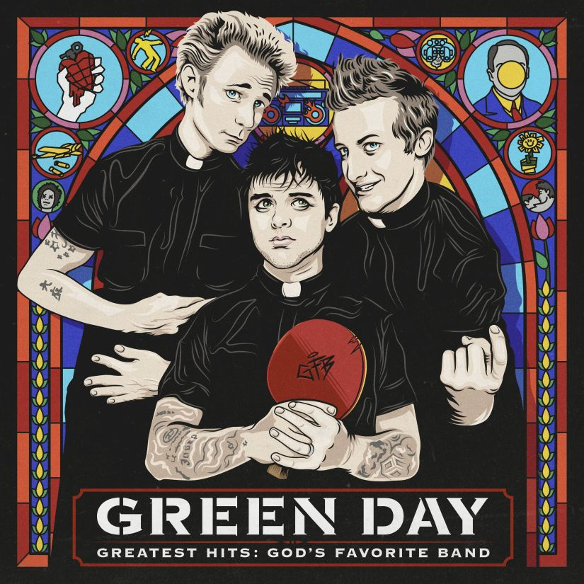 """This cover image released by Reprise Records shows """"Greatest Hits: God's Favorite Band,"""" by Green Day. (Reprise Records via AP)"""