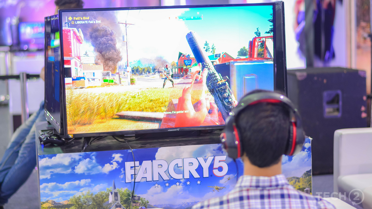We got the chance to play FarCry 5 demo on a PlayStation 4 Pro. Image: tech2/Rehan Hooda