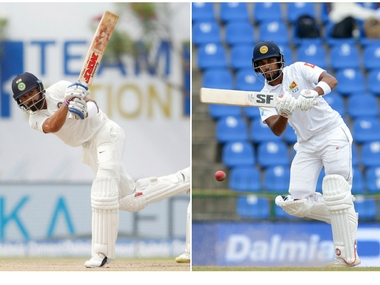 India's Virat Kohli and Sri Lanka's Dinesh Chandimal. Agencies