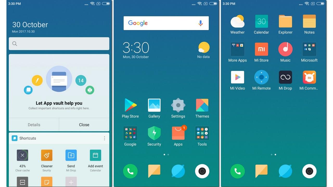 A look at the Beta version of MIUI 9 on the Redmi Y1.