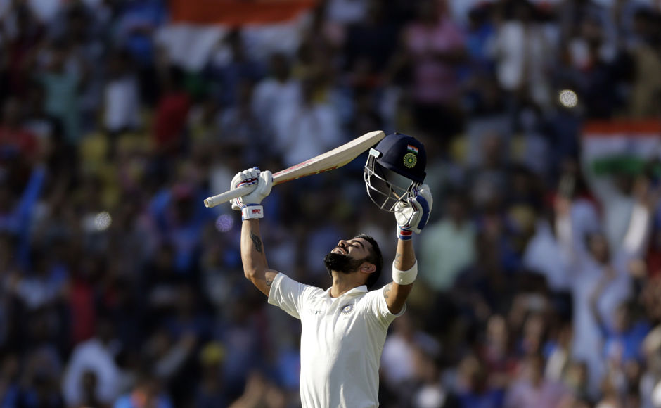 Virat Kohli slams his 5th Test double ton as India six wickets away from victory