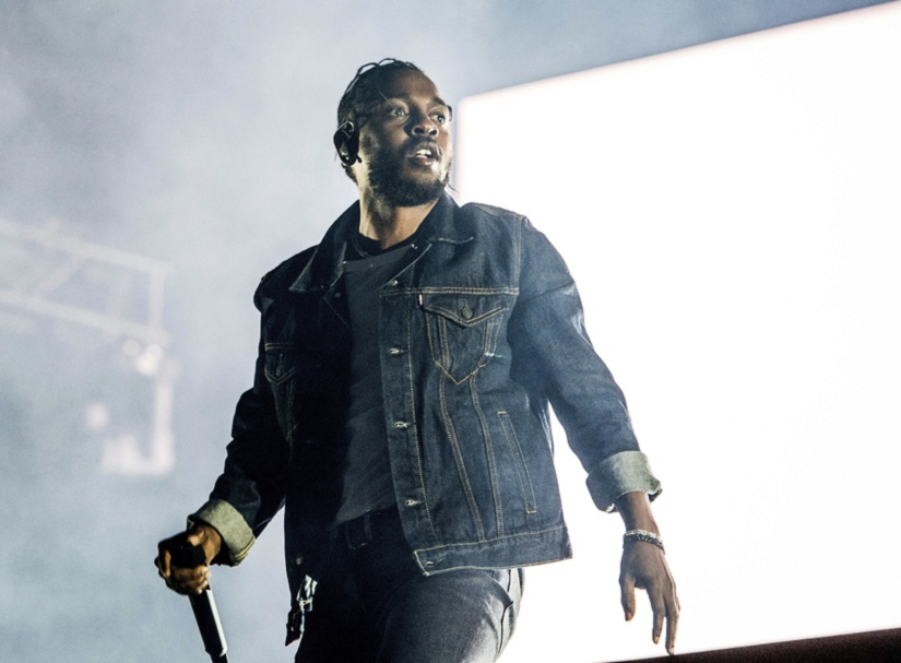 Kendrick Lamar performs during the Festival d'ete de Quebec. Image from AP/ Amy Harris