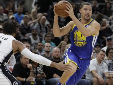 NBA: Klay Thompson helps Warriors defeat Spurs; Damian Lillard's late 3-pointer takes Trail Blazers past Lakers