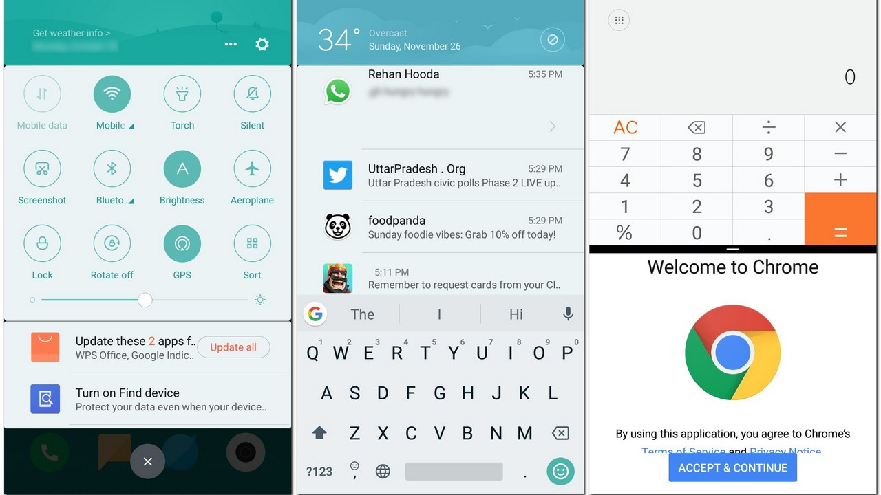 MIUI 9 now features an app drawer which does remind us a lot about the one on Oxygen OS.