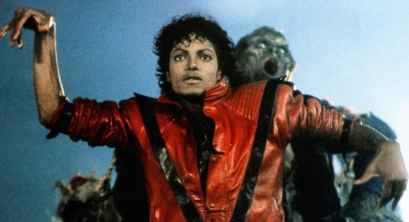 Michael Jackson in a scene from the music video for Thriller. YouTube