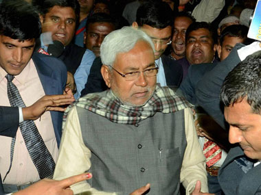 Black flag shown to Nitish Kumar over poor facilities at SKMCH in Bihars Muzaffarpur local outfit throws ink on his cavalcade