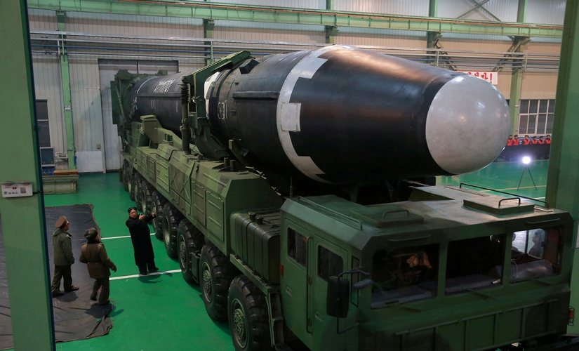 Images shows North Koreas new Hwasong15 missile larger more powerful but accuracy still an issue Analysts