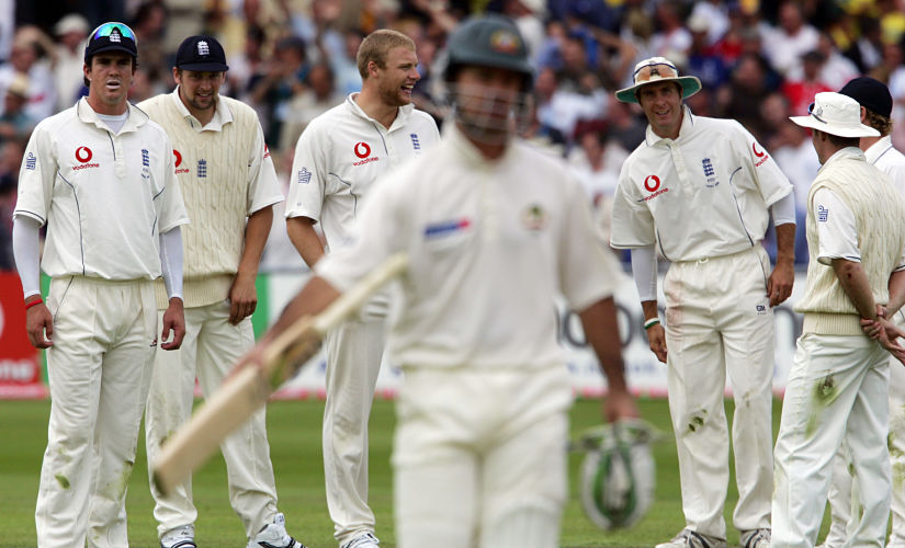 Australia's Ricky Ponting leaves the field after being ran out by England's Gary Pratt during the fourth Test of the Ashes series in Nottingham. Reuters