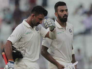 Cheteshwar Pujara and KL Rahul were unbeaten on Day 4, with India's lead worth 49. AP