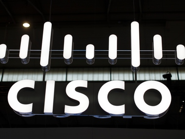 The logo of Cisco is seen at Mobile World Congress in Barcelona. Reuters
