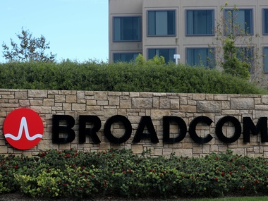 A sign to the campus offices of chip maker Broadcom Ltd. Reuters