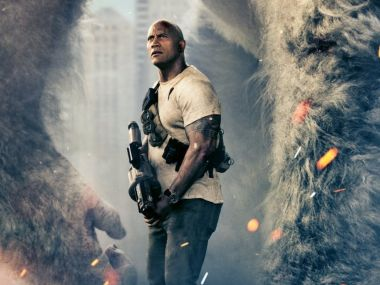 Rampage trailer: Dwayne Johnson fights gigantic beasts in '80s arcade game adaptation