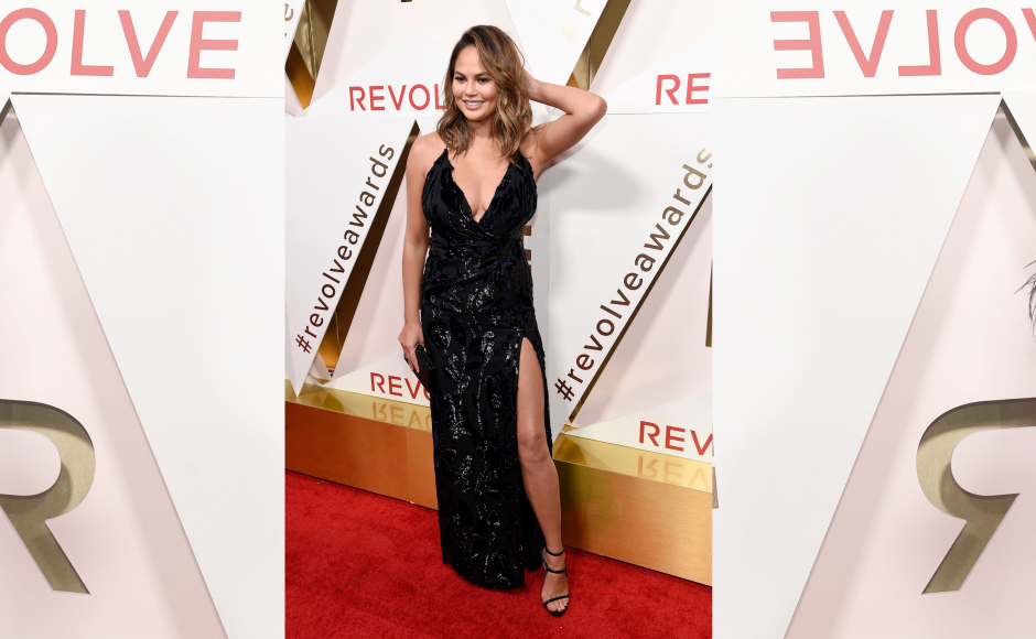 The Revolve Awards honouring fashion influencers were recently held at the Dream Hollywood hotel. Chrissy Teigen slayed the red carpet along with being an honouree. Image from Getty Images.