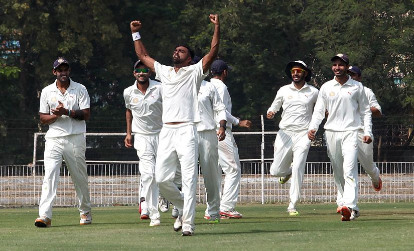 Saurashtra's strike bowler, Unadkat's, impressive show helped team reach finals of 2015-16 season of Ranji Trophy. Left-arm bowler reaped 40 wickets in 11 innings at an average of just over 20. Image courtesy: Saurashtra Cricket Association