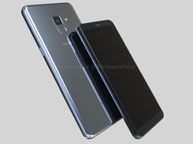 Leaked renders of the Samsung A5 and A7 (2018). Image: twitter/@OnLeaks