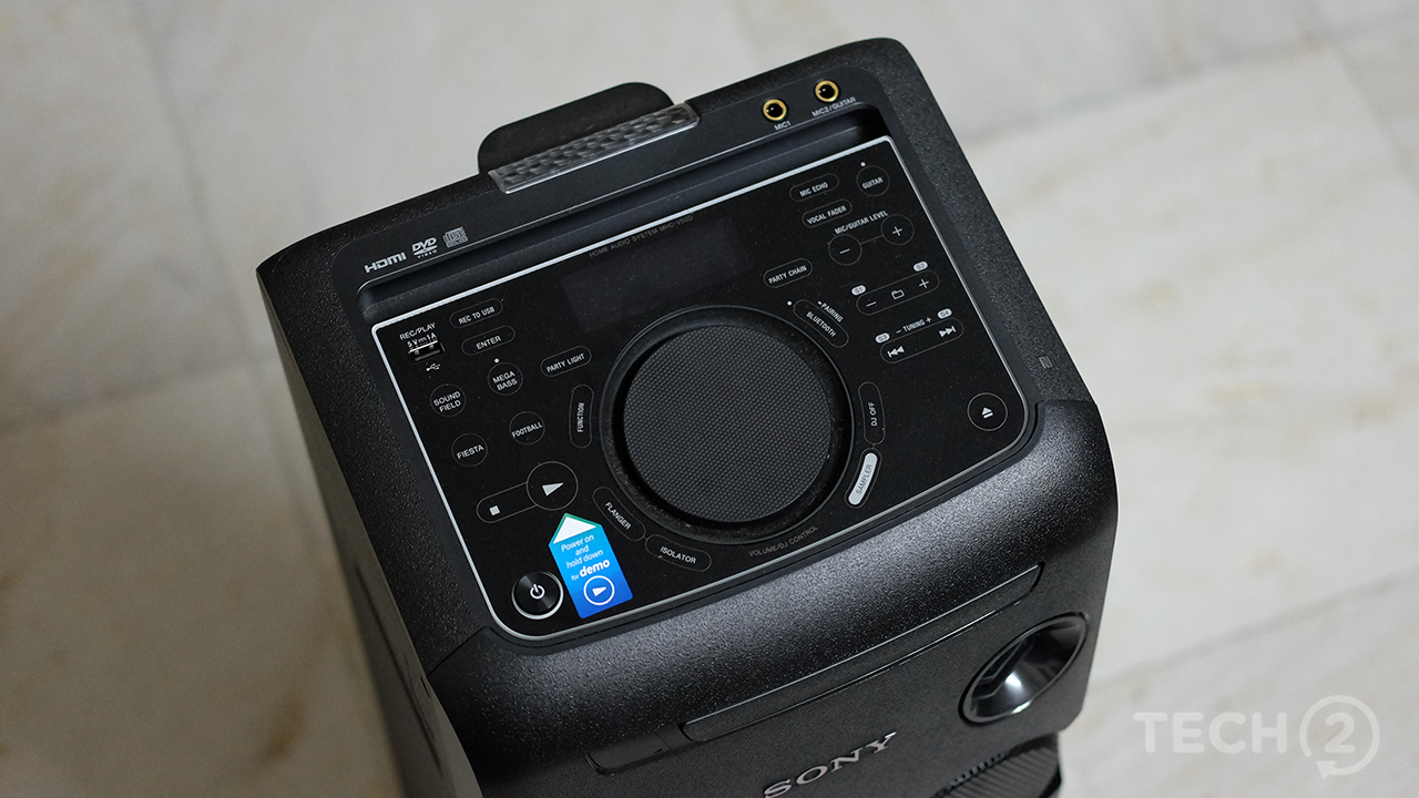 The speaker incorporates almost every input you'd ever need