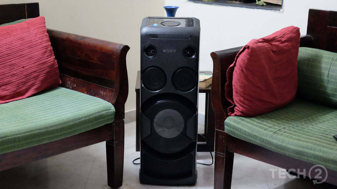 The speaker's design means that it's best placed in a corner