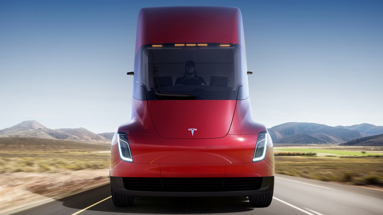 The Tesla Semi's cabin is designed specifically around the driver, featuring unobstructed stairs for easier entry and exit, a full standing room inside as well as a centered driver position for better visibility.