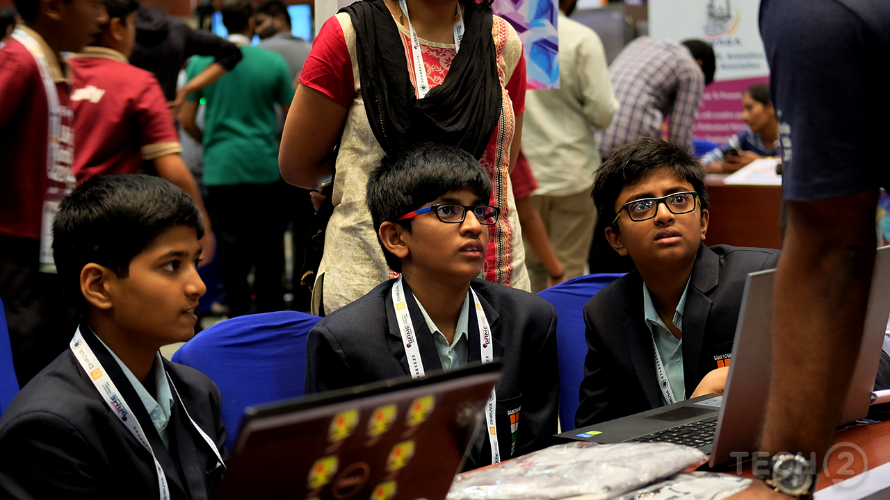 Kids who were still in school came to the event to demo their games