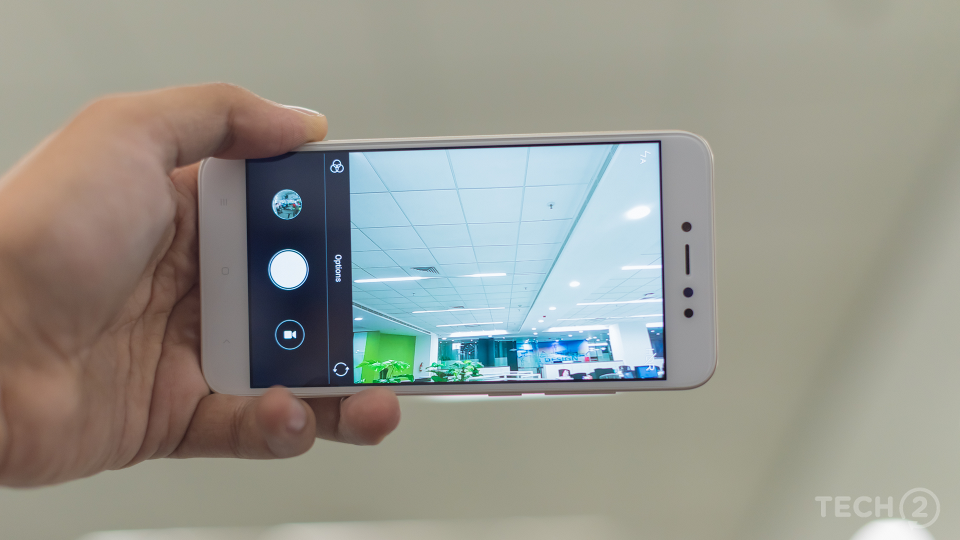 There's nothing different in terms of the camera user interface. Switching modes are relatively simple. Image: tech2/Rehan Hooda