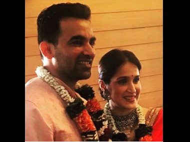 Zaheer Khan, Sagarika Ghatge wedding: Couple ties the knot; reception to be held on 27 November