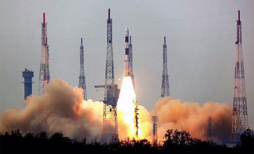 The PSLV-C30 mission lifting off with the AstroSat on board.
