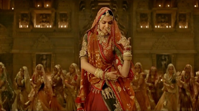 Deepika Padukone in 'Ghoomar'. Image from Twitter/ @ThisIsSunrise