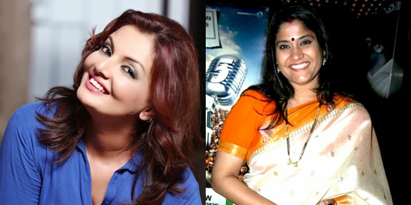 Deepshikha Nagpal and Renuka Shanane. Images from Facebook and Wikimedia Commons