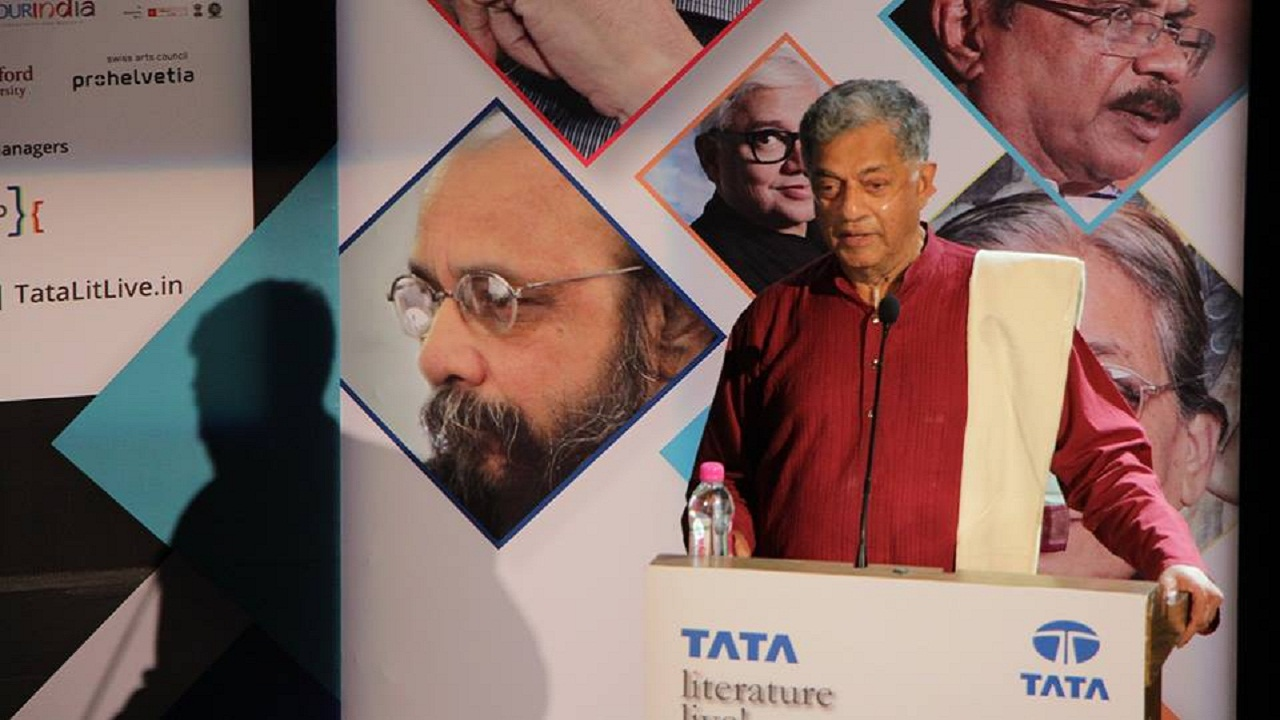 Tata Literature Live 2017 Girish Karnad felicitated with Lifetime Achievement Award in closing ceremony