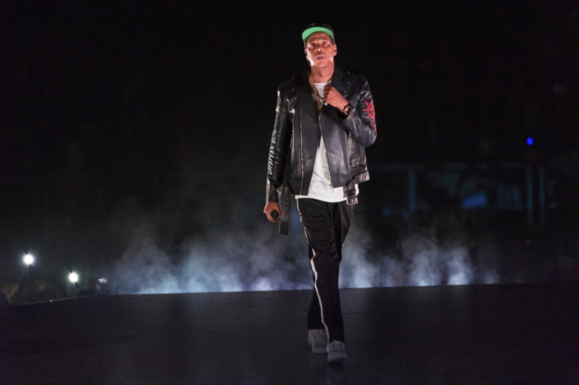 Jay-Z performs on the 4:44 Tour. Image from AP/Scott Roth