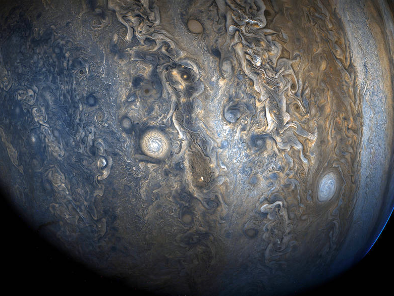 NASA releases image of the Jovian southern hemisphere captured by the Juno spacecraft
