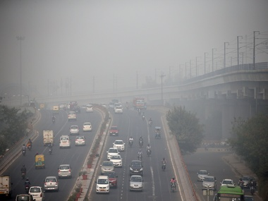 Sharp decline in Delhi air quality as pollution levels worsen visibility drops to 50 metres but Met dept says fog not smog