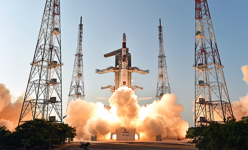 The PSLV C-27 mission blasting off with the IRNSS-1D navigation satellite on board.