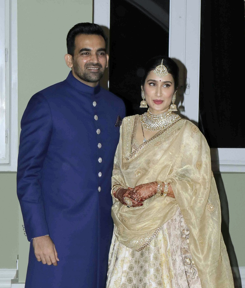 Zaheer Khan-Sagarika Ghatge's wedding reception was a starry affair! Pics