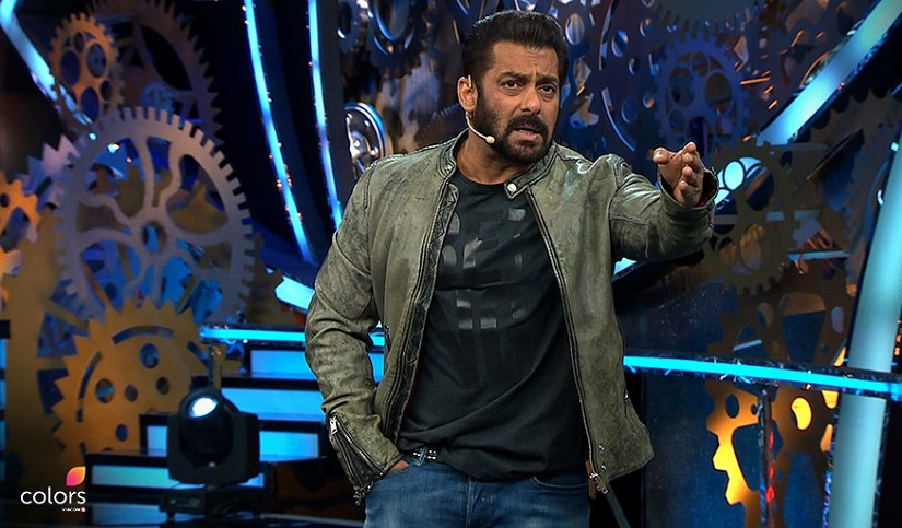 Salman Khan on Bigg Boss 11. Image from Twitter/@BiggBoss