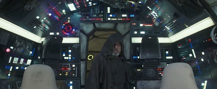 Youtube screen grab of the trailer of Star Wars: The Last Jedi.