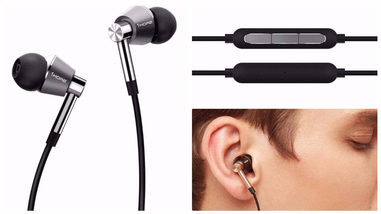 The titanium finish earphones, you get a gold variant too