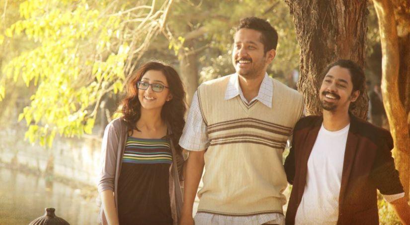 Surangana Bandopadhyay, Parambrata Chatterjee and Riddhi Sen in a still from Samantaral. Facebook/SamantaralTheMovie