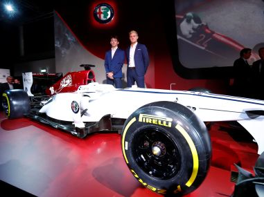 Formula One Alfa Romeo Sauber unveil slick car confirm Marcus Ericsson Charles Leclerc as drivers for 2018