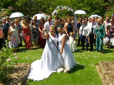 Two female couples tie knot in Australias first samesex wedding under new legislation