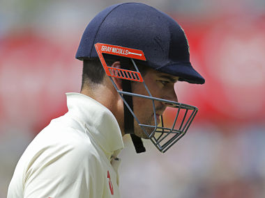 Alastair Cook walks back to pavilion after being dismissed by Josh Hazlewood on fourth day of 3rd Ashes Test in Perth. AP