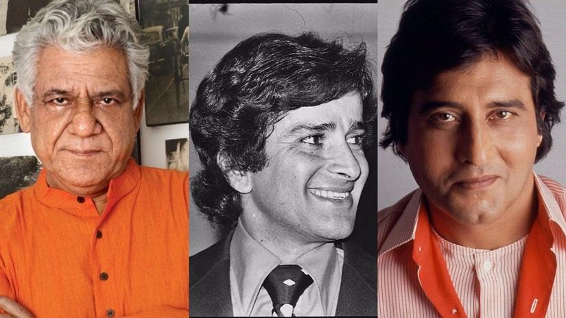 Om Puri-Shashi Kapoor-Vinod Khanna. Images from Twitter.