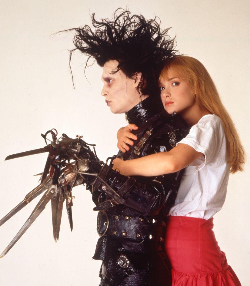 Johnny Depp and Winona Ryder in Edward Scissorhands. Facebook/EdwardScissorhandsMovie