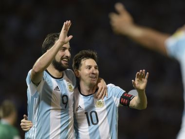 FIFA World Cup 2018: Argentina's Lionel Messi bats for out-of-favour teammate Gonzalo Higuain's recall