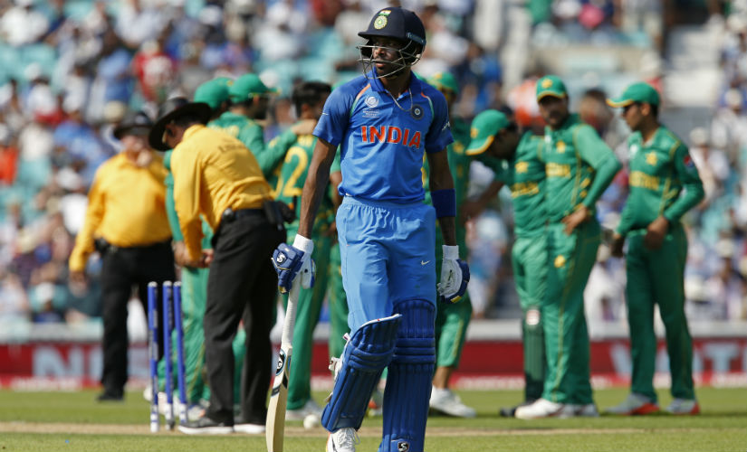 India were trounced by 180 runs at the hands of Pakistan in the final of the Champions Trophy. AFP