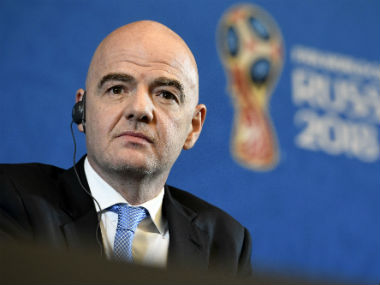 FIFA president Gianni Infantino denies doping is a problem in football as Russia hosts World Cup draw