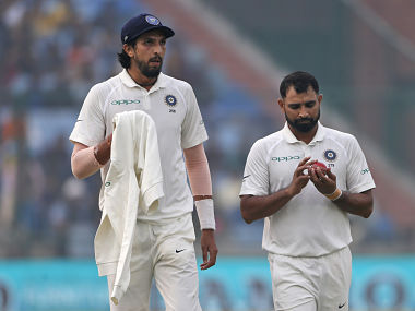 File image of Indian fast bowlers Ishant Sharma and Mohammad Shami. AP