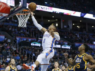 NBA: Russell Westbrook bags triple-double to help Thunder down Jazz; Bradley Beal scores 51 in Wizards' win