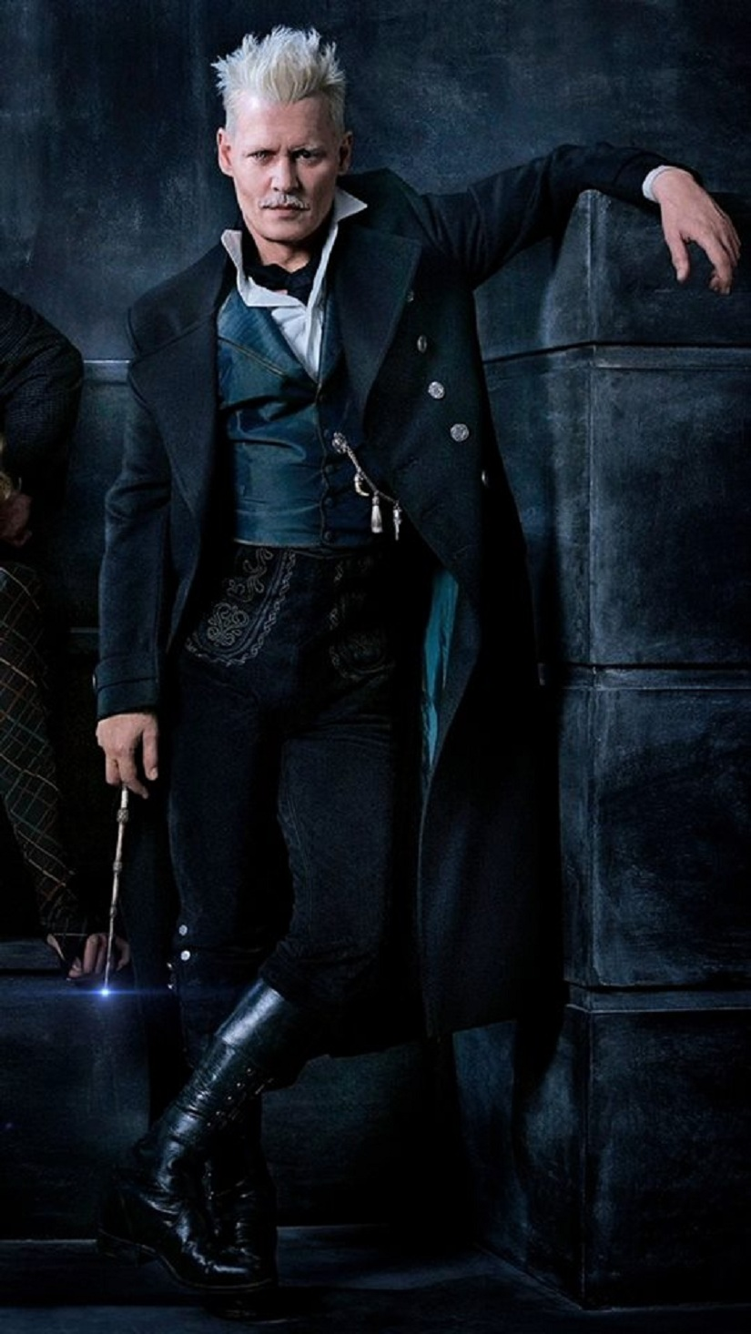 Johnny Depp as Gellert Grindelwald in Fantastic Beasts 2: Image via Facebook