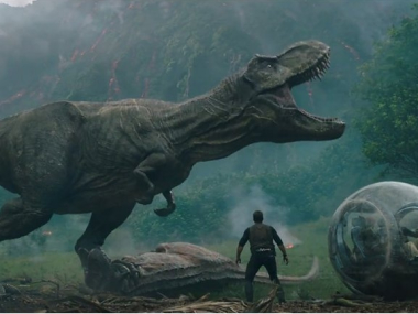 Jurassic World: Fallen Kingdom trailer is out and it's full of exploding volcanoes and dinosaurs